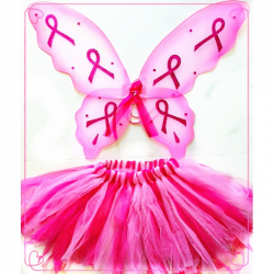 Pink Ribbon 2-Tone Tutu Set - Large 5-14 years