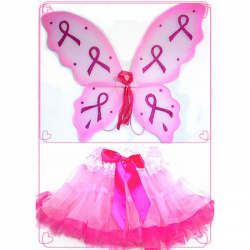 Pink Ribbon 2-Tone Tutu Set - Sm/Md 3-5 years