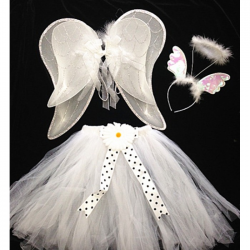 Sweet Angel Dress Up 3 Piece Tutu Set