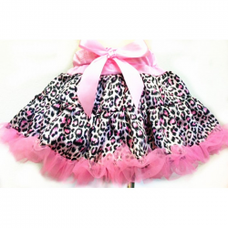 Pink and Black Leopard Satin Pettiskirt Tutu