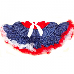 Red, White & Blue Satin & Tulle Tutu