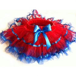 Red & Blue Tulle Pettiskirt